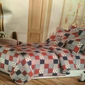 Семейный бязевый постельный комплект с двумя пододеяльника.80% хлопок, 20% полиэстер.Много расцветок