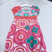 Стоп!!фирменное красивое яркое натуральное удобное платье с паетками