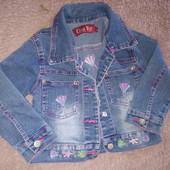 Фирменная джинсовая куртка с вышивкой