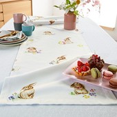 """Скатерть-дорожка для сервировки стола принт """"кролики"""" от Tchibo (Германия)"""