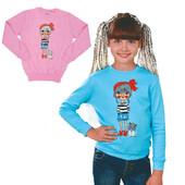 распродажа!новый хлопковый,яркий,модный джемпер для девочки.на прохладные летние вечера).