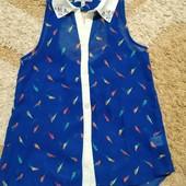Яркая шифоновая блузочка YD моднице 9-10 лет, рост 140 см