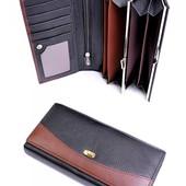 Новый кожаный кошелек. Лот-1 кошелек на выбор.