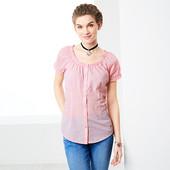 ☘ Блуза с коротким рукавом в мелкую клеточку от Tchibo(Германия), размеры наши: 48-50 (42 евро)