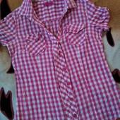 Летняя,фирменная рубашечка, 100% Коттон,замеры