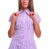 Рубашка лёгкая в полоску!!! Размер на наш 42-48