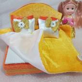 Двухспальная кровать для кукол лол и др.