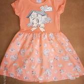 Платье с шифоновой юбкой на 5-6 месяцев
