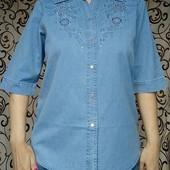 Джинсовая рубашка. Размер 50-58