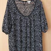 красивая кофточка, футболка на лето, пог 55 см , ткань шифоновая.