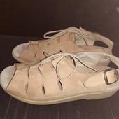 Кожаные босоножки на любую полноту ноги, разм. 39 (25,5 см ст.)