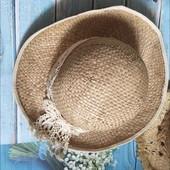 Шляпа соломенная - об головы 56см. Не пропусти!