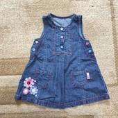 Собирай лоты) Экономь на доставке)Классный красивенный джинсовый сарафанчик для девочки 6 мес-1 год