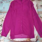 шифоновая блуза цвета фуксия размер С-М