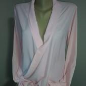 Нежная розовая блуза с удлиненной спинкой Yendi р.48 прекрасного сост