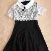 Лот №1 Школьное платье р.116-122