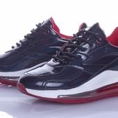 Крутые модные кроссовки на платформе 38 р в магазинах от 500 грн, чёрные с синим отливом