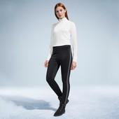 Плотные утепленные брюки-треггинсы на байке с контрастной вставкой, Tchibo (германия) размер 48 евро
