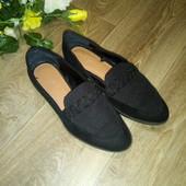 Классные удобные замшевые туфли, р.36-37. Состояние новых