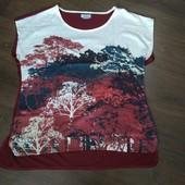 Футболка, блуза из комбинированной ткани (размер EU 48/50). Atlas for women. [лот_8323]