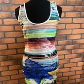 Яркое летнее платье amisu S
