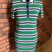 Платье футболка тенниска в полоску