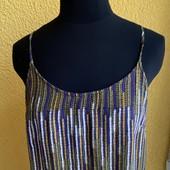 Платье сарафан комбинация на бретелях