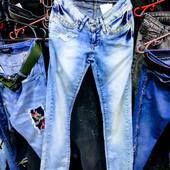 Новые турецкие джинсы Revolt, размер 26,S-M, поб 42 см, пот 30 см