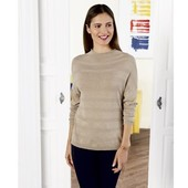 Пуловер oversize. Колір молочний. Європейський розмір Л 44/46
