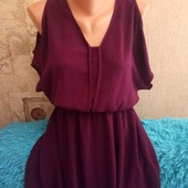 Atmosphere лёгкое платье ( летучая мышь)цвета баклажан размер м
