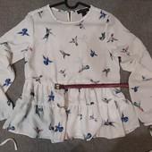 блузка с птичками р.М