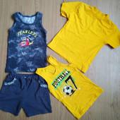 Костюм, майка и футболка для мальчика одним лотом. Рост 116-122.