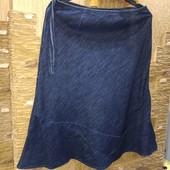 На пышные формы! Классная джинсовая юбка котон-лен р.18 Новое состояние Акция читайте