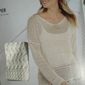 Ажурный легкий вязаный оверсайз джемпер пуловер, Esmara. Размер S, евро 36-38