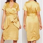 Сатиновое платье lost ink. Сток с этикетками