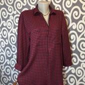 Модная, клетчатая рубашка Zara Woman с удлененной спинкой для пышненьких модниц . В Новом состоянии.