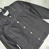 Утеплений джинсовий пітжак -куртка на 12-14 років