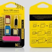 Переходник 5 в 1 micro Sim , nanoSim