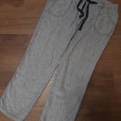 Льняные фирменые штаны свободного кроя со шнуровкой!
