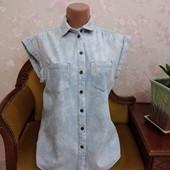 Джинсовая женская рубашка Denim Co, размер м-л
