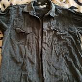 На высокого вельветовая рубашка, р. XXL