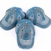 Симпатичная джинсовая кепка, размер 54\56