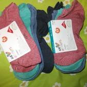 Скидка!!Коротенькие мужские меланжевые носочки,лот 5 шт (комплект). Сток. Италия