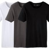 Стильная хлопковая, серая футболка от Livergi, размер L, с V образным вырезом