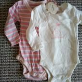Набор 2 новых бодика для новорожденных