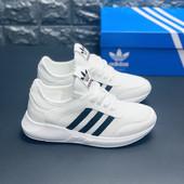 Белые летние кроссовки, верх текстиль. Легкие, удобные.