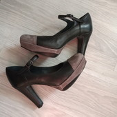 Фирменные итальянские туфли из натуральной кожи и замши р.36,5-37,5 на ножку 23,5-24см