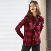 Классная фланелевая рубашка Esmara Германия размер евро 34