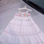 Стоп!!, фирменное красивое яркое натуральное удобное платье- вышиванка от primark