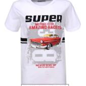 Модная футболка на мальчиков Glo-Story 134-140р. белая